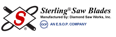 Sterling Saw Blades - Diamond Saw Works distributor, supplier, vendor in Northeast PA Hazleton