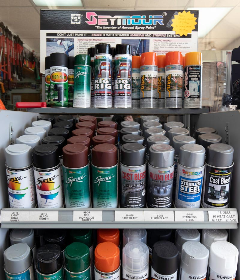 A large in-stock supply of Seymour Spray Paint is available at Tunnessen Supply in Hazleton PA